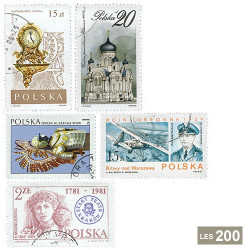200 timbres Pologne