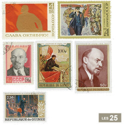 25 timbres Lénine