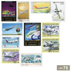 75 timbres Avions
