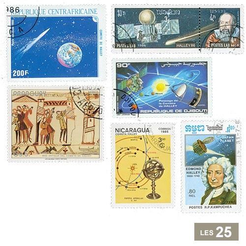 25 timbres Comète de Halley