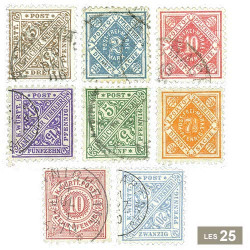 25 timbres Wurtemberg