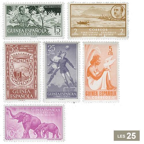 25 timbres Guinée espagnole