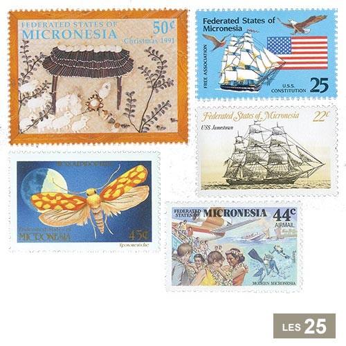 25 timbres Micronésie