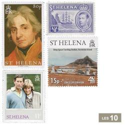 10 timbres Sainte-Hélène