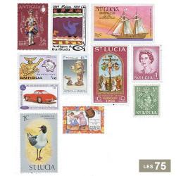 Les 75 timbres Antilles