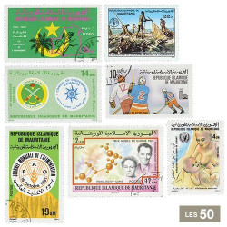 50 timbres Mauritanie