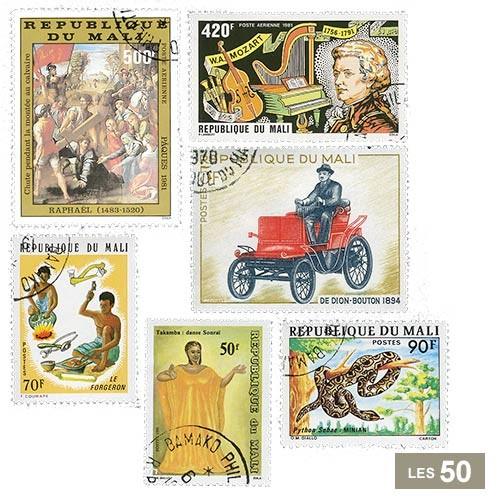 50 timbres Mali