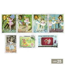 25 timbres Danse