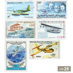 25 timbres Canadairs et hydravions