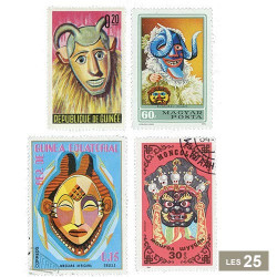 25 timbres Masques