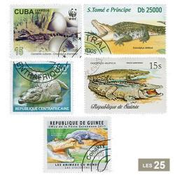25 timbres Crocodiles