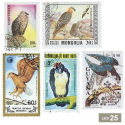 25 timbres Rapaces