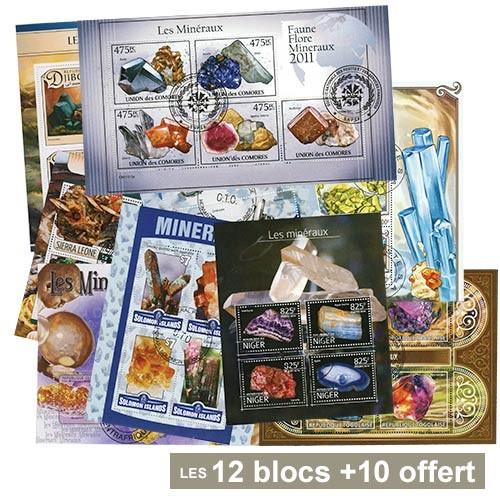 12 Blocs Minéraux + 10 Blocs OFFERTS