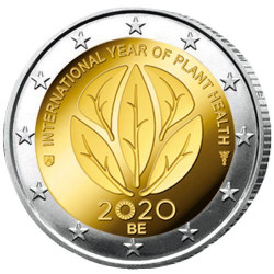 2 Euro Belgique BE 2020 - Année internationale de la santé des plantes