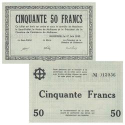 Billet de nécessité 50 Francs Mulhouse 1940