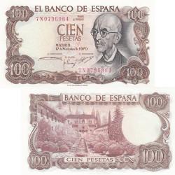 Billet 100 Pesetas Espagne 1970 - Manuel de Falla