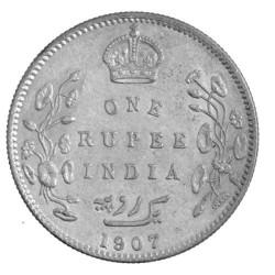 1 Roupie Argent Inde 1904-1907 - Edouard VII