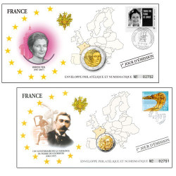 """Lot de 2 Enveloppes """"1er jour"""" d'émission Personnalités françaises"""