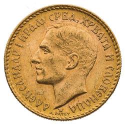 20 Dinars Or Yougoslavie 1925 - Alexandre Ier