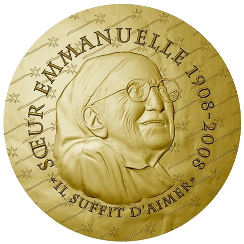 50 Euro OR France BE 2020 - Sœur Emmanuelle