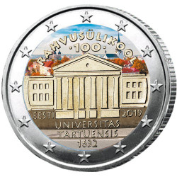 2 Euro Estonie 2019 colorisée - Tartu