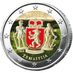 2 Euro Lituanie 2019 colorisée - Samogitie