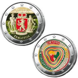Lot des 2 x 2 Euro Lituanie 2019 colorisées