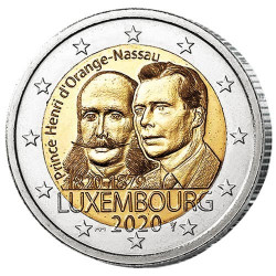 2 Euro Luxembourg BU 2020 - 200 ans du Prince Henri d'Orange-Nassau