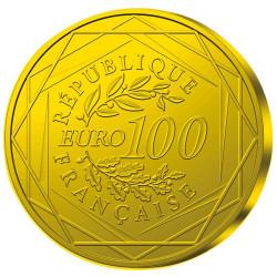 100 Euro Argent Hercule doré France 2012