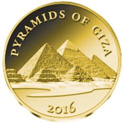 1000 Francs Or BE 2016 - Les Pyramides de Gizeh