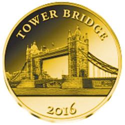100 Francs Or BE 2016 - Le Tower Bridge