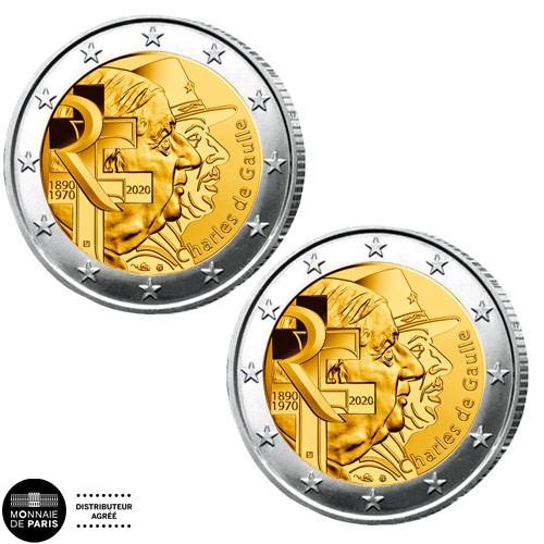 Lot des 2 x 2 Euro BU-BE 2020