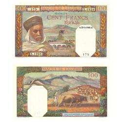 Billet 100 Francs Algérie 1945 - Notable algérien