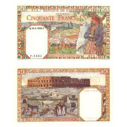Billet 50 Francs Algérie 1945 - Couple algérien