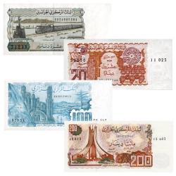 Lot de 4 billets Algérie 1982-1983