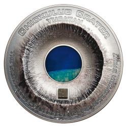 20 Dollars Argent 2019 colorisée - Cratère de Chicxulub