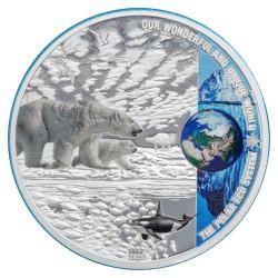10 Dollars Argent BE 2020 colorisée - L'écosystème polaire