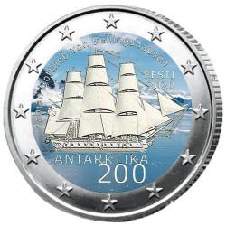 2 Euro Estonie 2020 colorisée - 200 ans de la découverte  de l'Antarctique