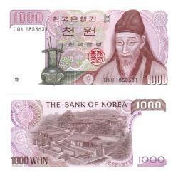 Billet 1?000 Won Corée du Sud 1983 - Yi Hwang