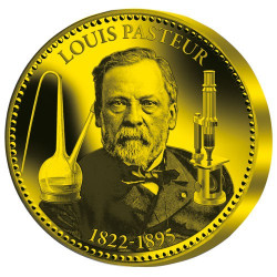 La « pièce de l'Espoir » Louis Pasteur Or BE