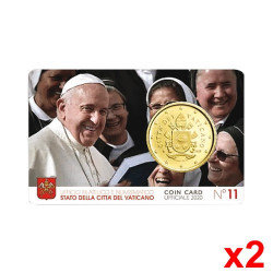 2 Minisets 50 cent Vatican 2020