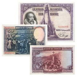 3 billets Espagne 1928
