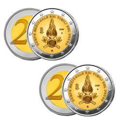 Lot des 2 x 2 Euro BU/BE Italie 2020