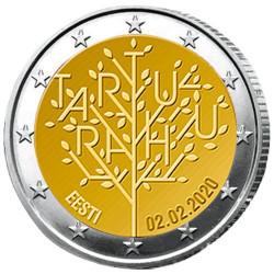 2 Euro Estonie BU 2020 - 100 ans du Traité  de paix de Tartu