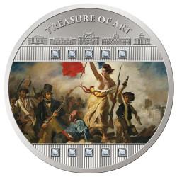 """2 000 Francs Argent BE 2020 colorisée Delacroix - """"La liberté guidant le peuple"""""""