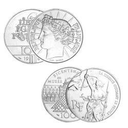 Lot des 2 x 100 Francs Argent
