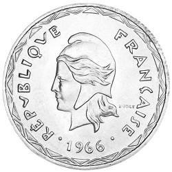 100 Francs Argent Nouvelles Hébrides 1966