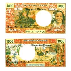 1000 Franc Nouvelles Hébrides Tahitienne