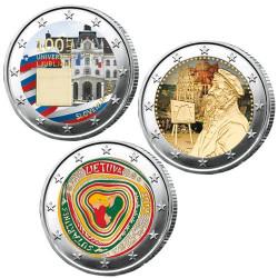 Lot des 3 x 2 Euro colorisées 2019