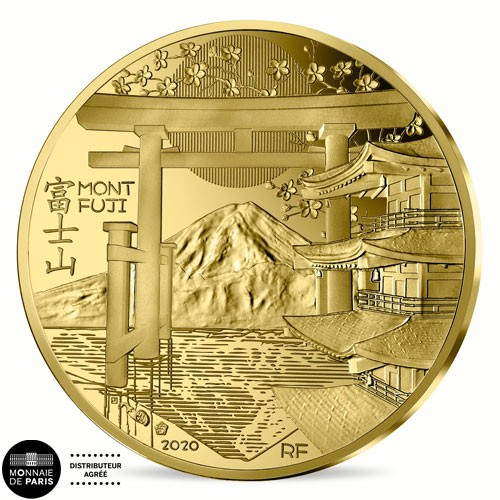 50 euro Or France BE 2020 - Mont Fuji